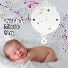 Windup Movement Music Box Baby Mobile Crib Rotating Bed Bell (Brackets or Toys not included)
