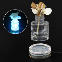 USB Powered Round LED Light Base for Air Fresheners or Reed Diffusers with 7 Changing Lighting Colors