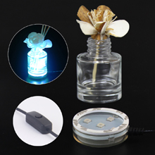 USB Powered Round LED Light Stand Base for Air Fresheners or Reed Diffusers , 7 Changing Lighting Colors , with Controller