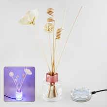 Air Fresheners or Reed Diffusers Combo Set # 1 with USB Powered 7 Colors Changing LED Light Stand Base
