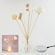 Air Fresheners or Reed Diffusers Combo Set # 3 with USB Powered 7 Colors Changing LED Light Stand Base