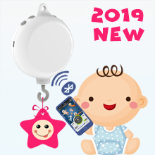 2019 New Design Bluetooth Digital Baby Crib Mobile Music Box with 128M TF Card, Support Extended to 2 GB, Battery-Operated