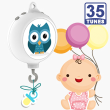 35 Tunes Electrical Baby Bedding Crib Mobile Music Box W/ DIY stickers, Battery Operated (Brackets or Toys not included)