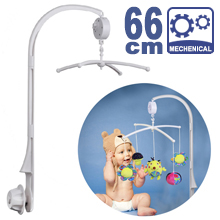 66CM High Baby Crib Bed Bell Toys Holder Arm Bracket, Nut Screw, & Windup Music Box