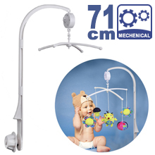 71CM High Baby Crib Bed Bell Toys Holder Arm Bracket, Nut Screw, & Windup Music Box