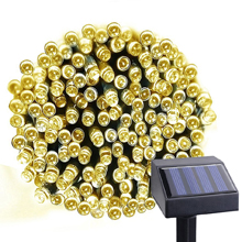 100 LEDs Waterproof Solar Powered 7 Optional Colors with 2 Lighting Modes Starry String Fairy Lighting Party Lights for Indoor/Outdoor Decorations ( Pure white/ Warm white/ Blue/ Green/ Red/ Pink/ Multi-color)
