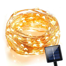 120 LEDs Waterproof Solar Powered Starry String Copper Wire Fairy Lighting Party Lights for Indoor/Outdoor Decorations (Pure white/ Warm white/ Blue/ Purple/ Multi-color)