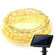150 LEDs Waterproof Large Size Solar Panel Powered Starry String Copper Wire Fairy Lighting Party Lights with Large Solar Panel for Indoor/Outdoor Decorations ( Pure white/ Warm white/ Blue/ Purple/ Multi-color)
