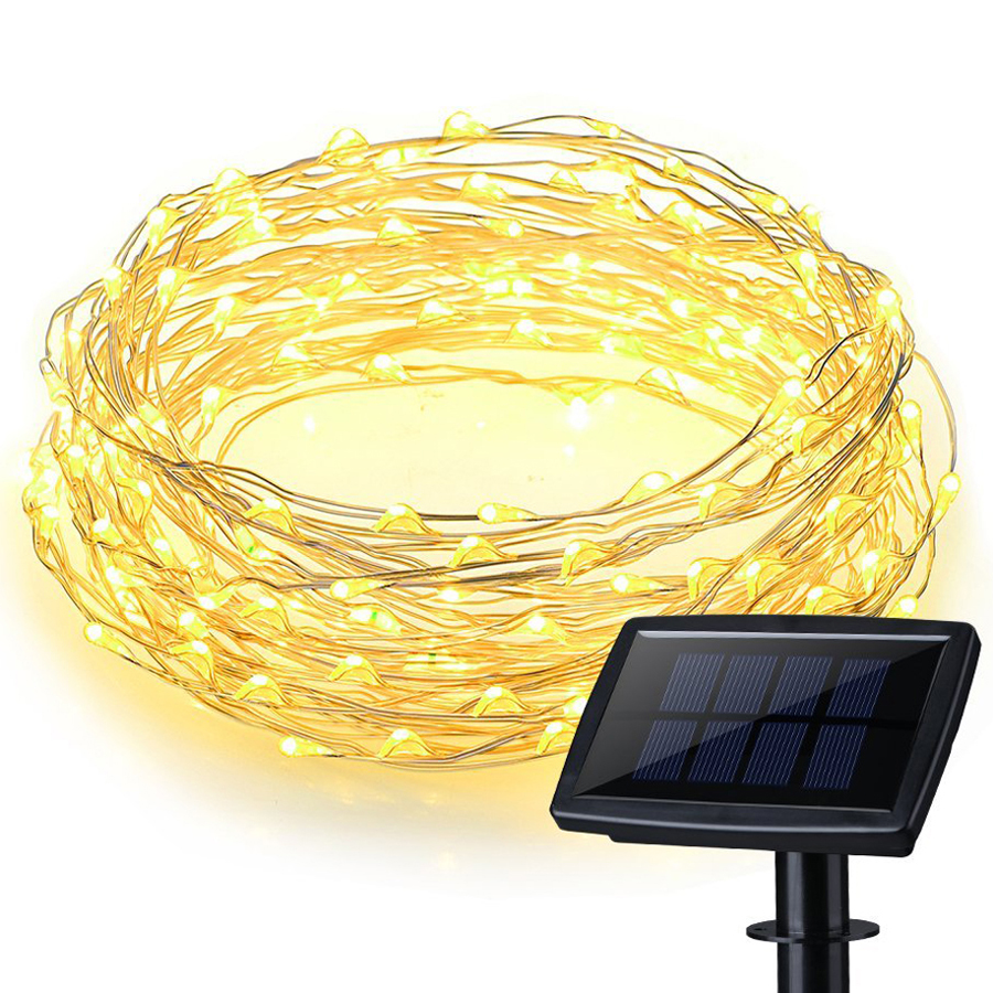 200 LEDs Waterproof Solar Powered Starry String Copper Wire Fairy Lighting Party Lights with ...