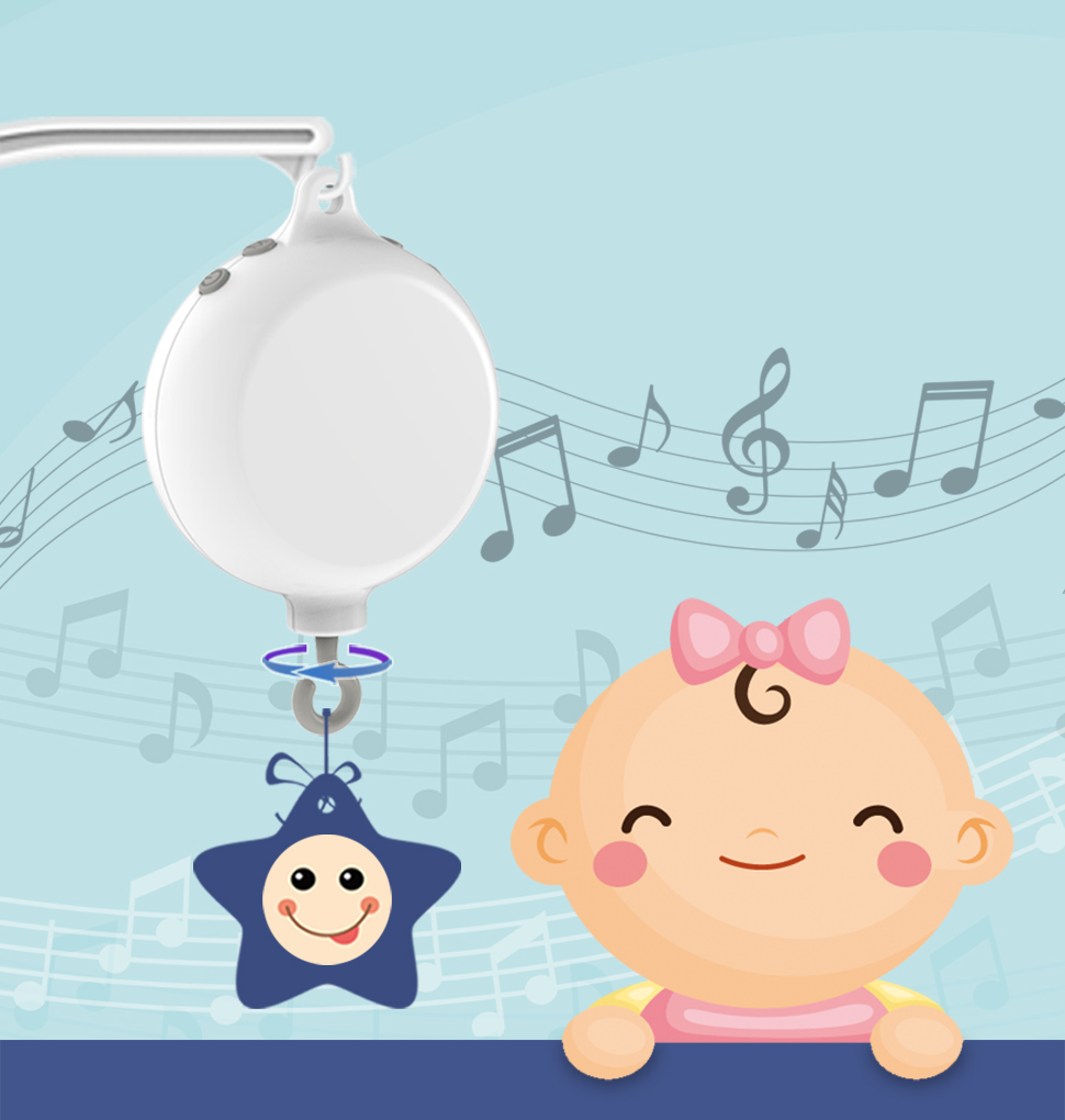 35 Tunes Electrical Baby Bedding Crib Mobile Music Box